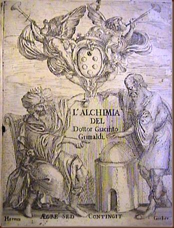 Giacinto Grimaldi. Dell'Alchimia. Palermo, 1645.