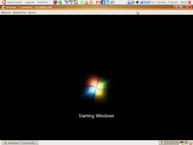 Windows 7 iniciando...