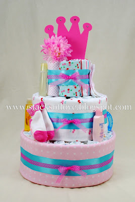 Diaper Cake with Cherries