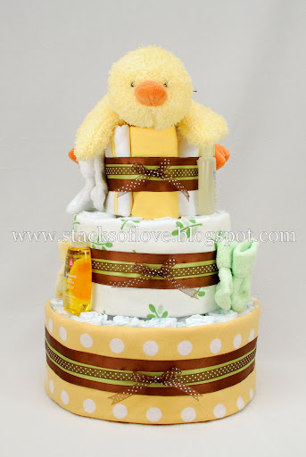Diaper Cake with plush Ducky