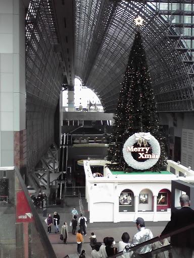 京都駅ビル大階段からの写真