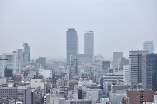 名古屋テレビ塔から見たツインタワーの写真