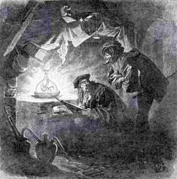 Вагнер и Мефистофель за созданием Гомулкула