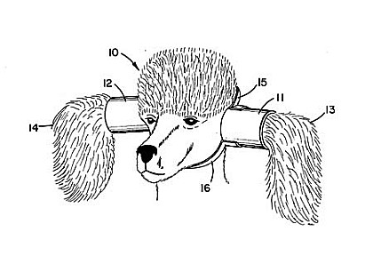 Патент США US 4.233.942 (James D. Williams, 1980 год) - Устройство для защиты собачьих ушей