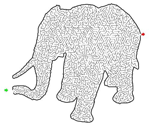 Лабиринт-головоломка Слон
