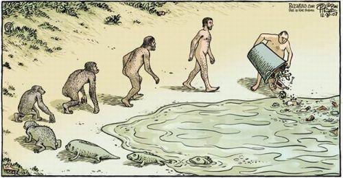 Карикатура - Ещё один взгляд на эволюцию...