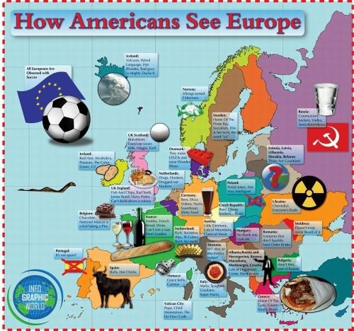 Как американцы представляют себе Европу...