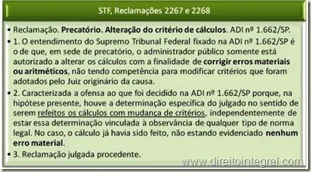 STF - Jurisprudência sobre a Impossibilidade de Alteração dos Critérios de Cálculo Após a Liquidação.