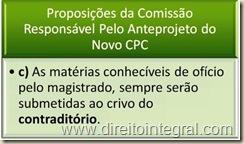 Novo Código de Processo Civil - Contraditório nas Matérias Conhecíveis de Ofício.