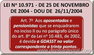 GDASST. Lei 10971 de 2004. art. 7º.