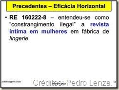 Eficácia Horizontal dos Direitos Fundamentais na Jurisprudência do STF. RE 160.222. Revista Íntima das Funcionárias de Fábrica de Lingerie e Constrangimento Ilegal.