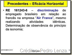 Eficácia Horizontal dos Direitos Fundamentais na Jurisprudência do STF: Discriminação de Empregado Brasileiro, a quem era pago salário inferior ao recebido por estrangeiro que exercia funções idênticas.