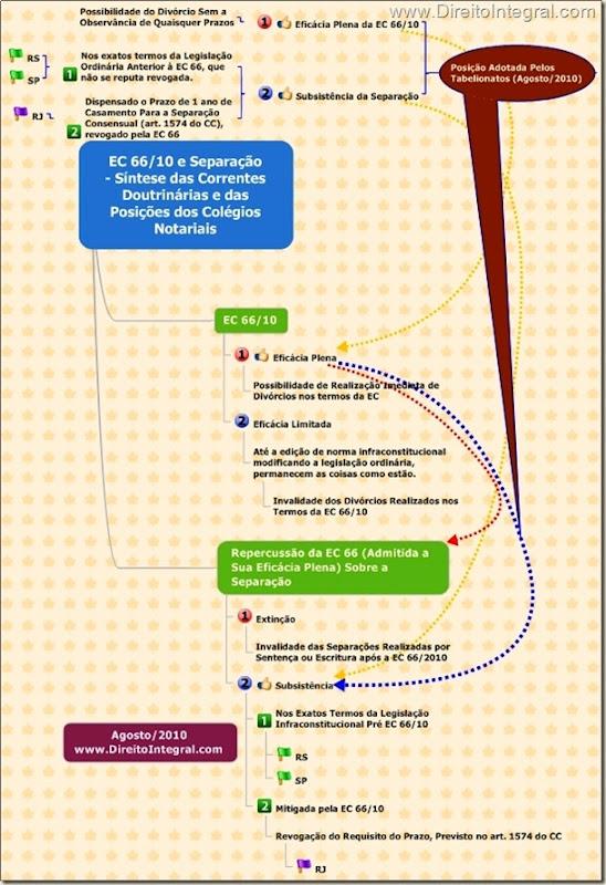 Separação Após a EC 66/2010. Correntes Doutrinárias e Posições dos Colégios Notariais.