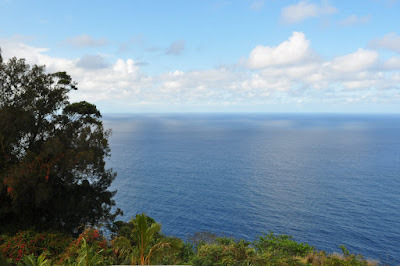 Blue Pacific from overlook at Waipi'o Valley, Hawaii