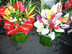 Tropical Flower arrangements at the Hilo Farmer's Market, Hawaii. Photo by Lisa Callagher Onizuka