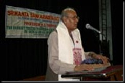 Sanskritist Kamlesh Dutt Tripathi delivering Sankardev Lecture at Tezpur University. 