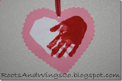 valentine heart handprint 7