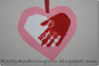 valentine heart handprint 7