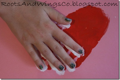 valentine heart handprint 3