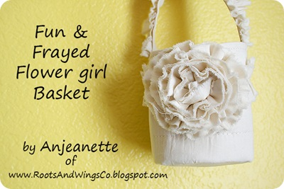 fun and frayed flower girl basket