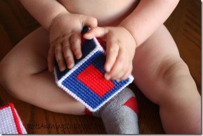 Stitched Canvas Infant Blocks 12