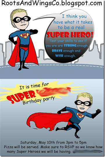super hero invite
