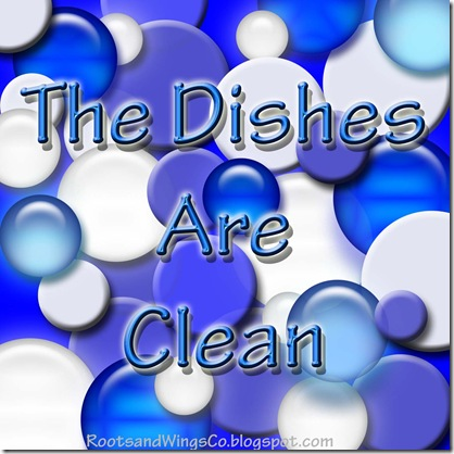 The dishes are clean