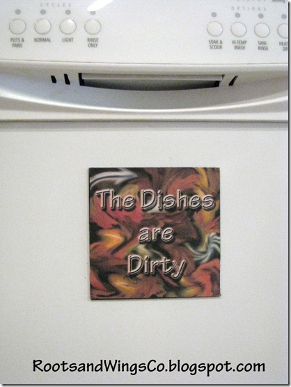 Dishwasher dirty