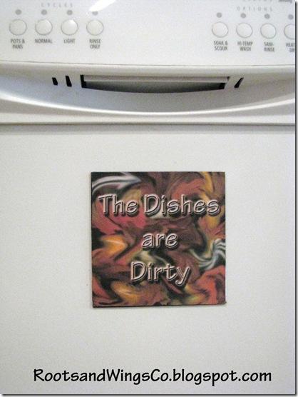 Dishwasher dirty