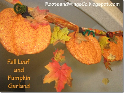 1 Fall Pumpkin Garland