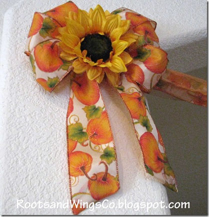 Bow with sun flower