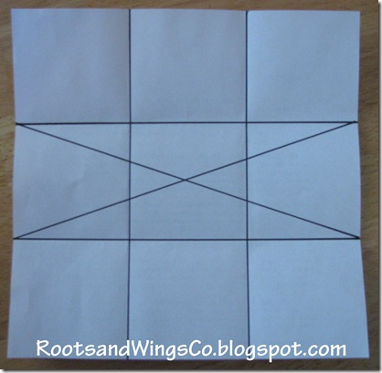 3 pattern diagonals through the center