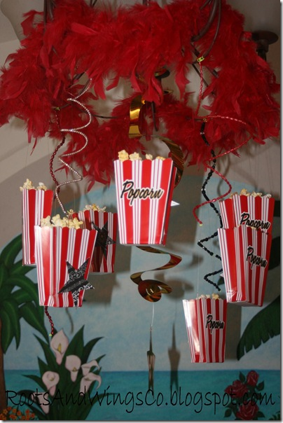 movie star party decorations boa lighting hanging popcorn