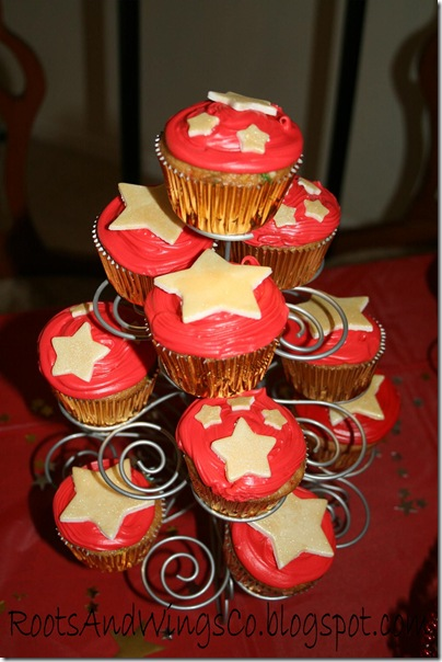 movie star party cupcakes
