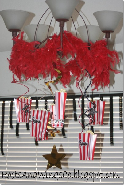 movie star party decorations boa lighting hanging popcornn