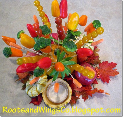 Thanksgiving edible arrangement center piece