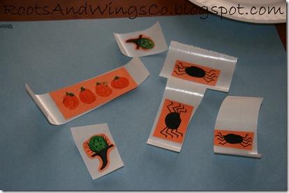 halloween fingerprint shapes