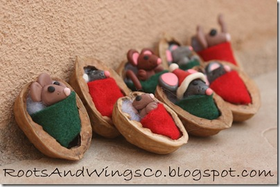 retro walnut mouse ornament 3