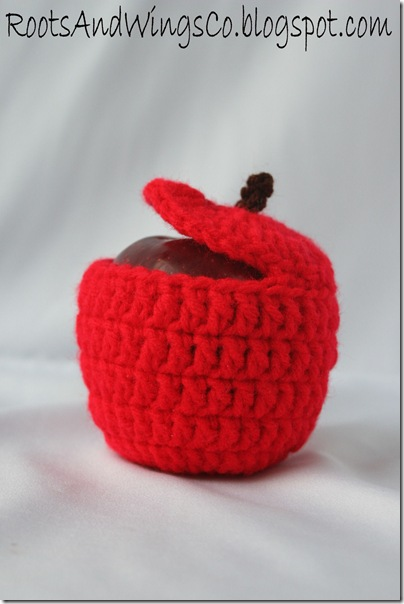 crocheted apple e