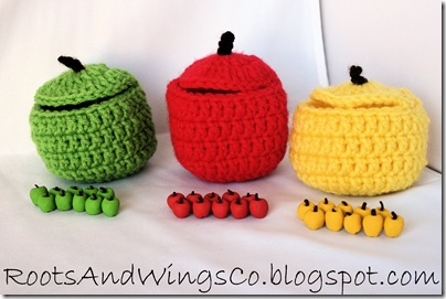 polymer clay apple craft manipulative b
