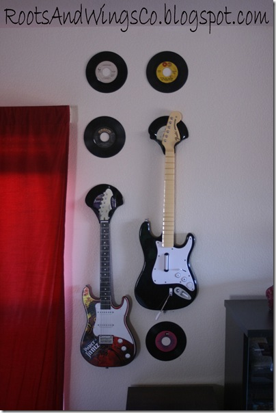 vinyl record guitar holder music room f