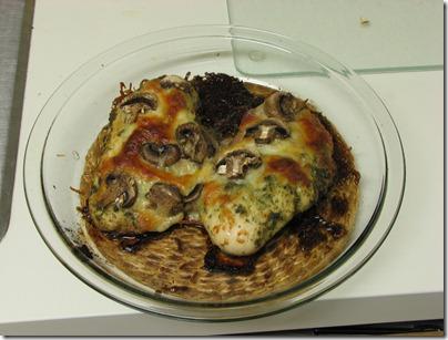 Pesto Chicken Cooked