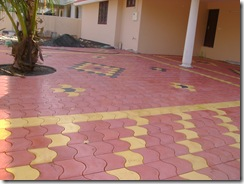 ... for Binu Thomas: Interlock tile laying for car porch and other areas