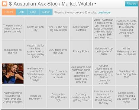 australian stock website flipcard