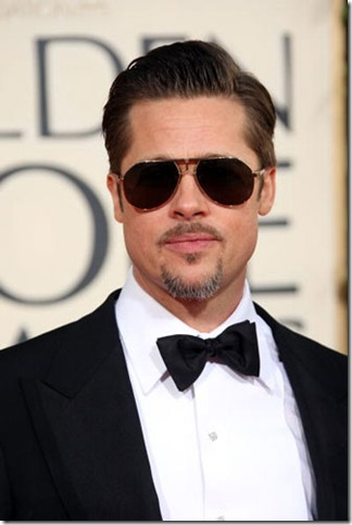 Brad Pitt in a classic Black Tuxedo and Bowtie.