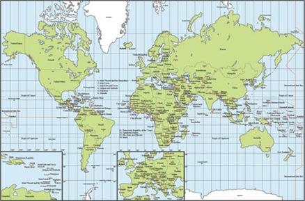 el mapa mundial. mapa del mundo paises. de