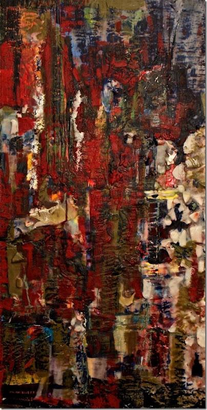 Silvana LaCreta Ravena, Mirror, encaustic, 40x24 in