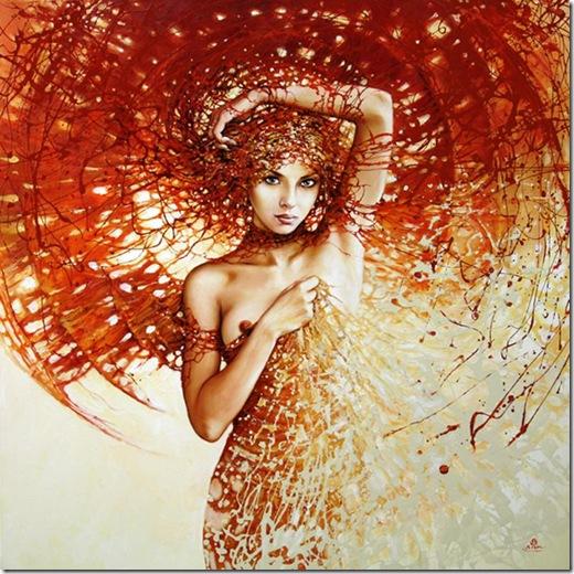 ARACHNOID_cykl_Ariadna,_90x90_cm,oil,_canvas,__2009