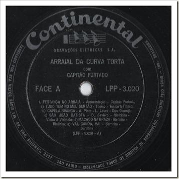 Selo Face A (1958 - Capitão Furtado - Arraial da Curva Torta)