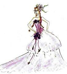 Desenhos de vestidos de noiva Clo N9 0 DRev08